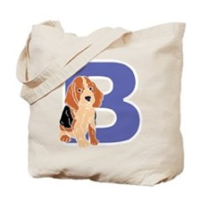 Puppy Letter B Tote Bag