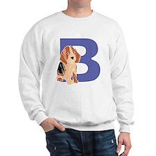 Puppy Letter B Sweatshirt