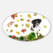 Fall Puppy Decal