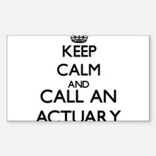 Keep calm and call an Actuary Decal