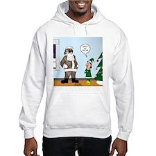 Santa in Camouflage Hoodie Sweatshirt