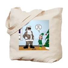 Santa in Camouflage Tote Bag