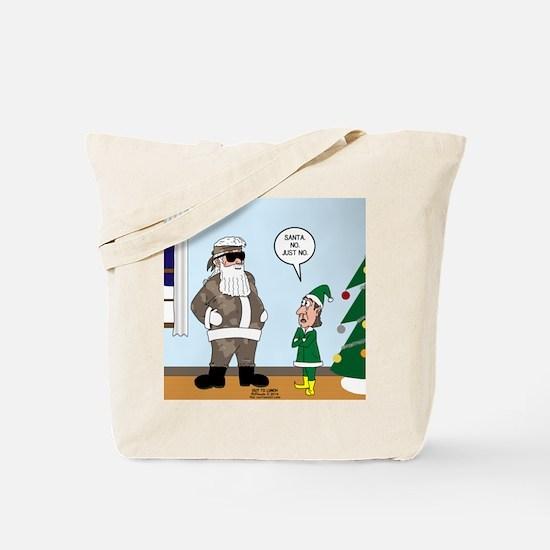Santa in Camouflage Tote Bag