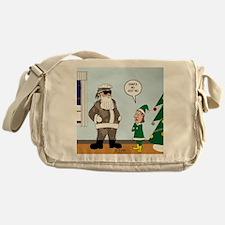 Santa in Camouflage Messenger Bag