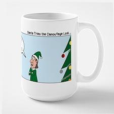 Santa in Camouflage Large Mug