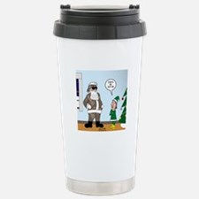 Santa in Camouflage Stainless Steel Travel Mug