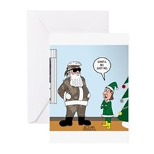 Santa in Camouflage Greeting Cards (Pk of 10)
