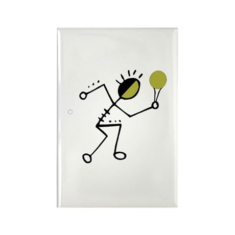 Tribal Tennis Player Rectangle Magnet