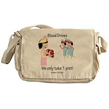 Funny Blood Messenger Bag