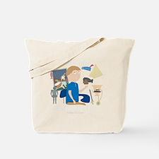 History Buff - Hallway 100 Comics Tote Bag