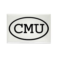 CMU Oval Rectangle Magnet