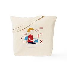 Math Geek (Dark) - Hallway 100 Comics Tote Bag