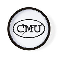 CMU Oval Wall Clock