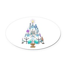 Oh Chemistry, Oh Chemist Tree Oval Car Magnet