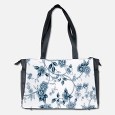 Blue Porcelain Flowers Diaper Bag