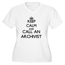 Keep calm and call an Archivist Plus Size T-Shirt