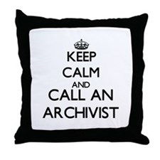 Keep calm and call an Archivist Throw Pillow