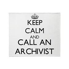Keep calm and call an Archivist Throw Blanket