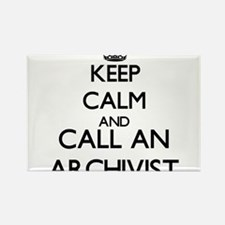 Keep calm and call an Archivist Magnets