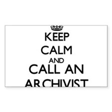 Keep calm and call an Archivist Decal