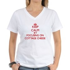 Keep Calm by focusing on Cottage Cheese T-Shirt