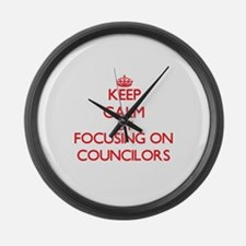 Keep Calm by focusing on Councilo Large Wall Clock