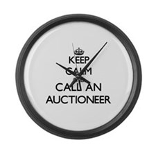 Keep calm and call an Auctioneer Large Wall Clock