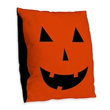 Pumpkin Halloween Burlap Throw Pillow