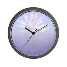 Lotus Flower Reflected Wall Clock
