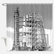 Saturn V Shower Curtain