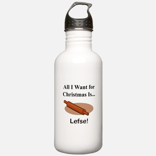 Christmas Lefse Water Bottle
