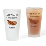 Christmas Lefse Drinking Glass