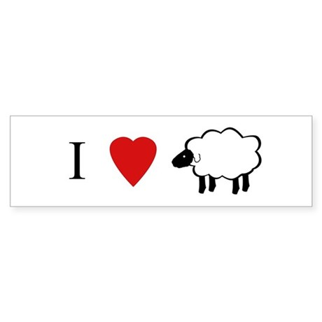 I Heart Sheep Bumper Sticker