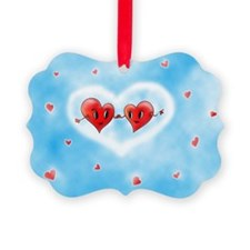 Two Hearts Love you Ornament