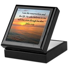 JOHN 11:25 Keepsake Box
