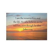 JOHN 11:25 Rectangle Magnet