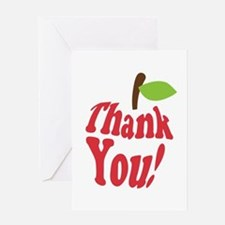 Thank You Red Apple Appreciation Greeting Cards