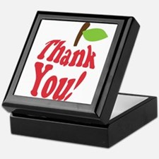 Thank You Red Apple Appreciation Keepsake Box