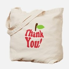Thank You Red Apple Appreciation Tote Bag