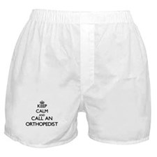Keep calm and call an Orthopedist Boxer Shorts
