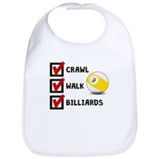 Crawl Walk Billiards Bib