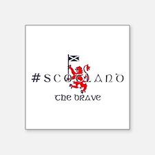 Hashtag Scotland the brave Sticker