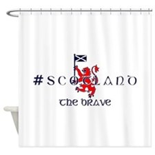 Hashtag Scotland the brave Shower Curtain
