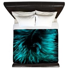 Feather teal King Duvet