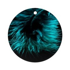 Feather teal Round Ornament