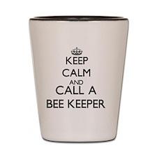 Keep calm and call a Bee Keeper Shot Glass
