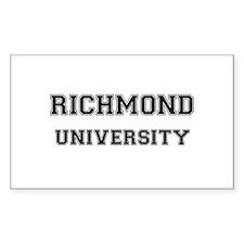 RICHMOND UNIVERSITY Rectangle Decal