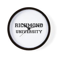 RICHMOND UNIVERSITY Wall Clock