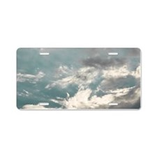 sky and clouds Aluminum License Plate