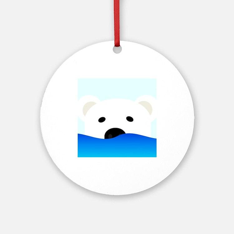 Arctic Bear Ornament (Round)